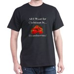Christmas Strawberries Dark T-Shirt