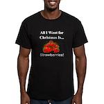 Christmas Strawberries Men's Fitted T-Shirt (dark)