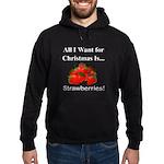 Christmas Strawberries Hoodie (dark)