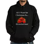 Christmas Strawberries Hoodie (dark)