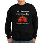 Christmas Strawberries Sweatshirt (dark)