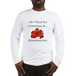 Christmas Strawberries Long Sleeve T-Shirt