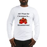 Christmas Strawberries Long Sleeve T-Shirt