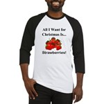 Christmas Strawberries Baseball Jersey
