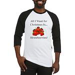 Christmas Strawberries Baseball Jersey
