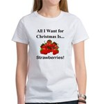Christmas Strawberries Women's T-Shirt