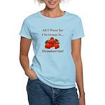 Christmas Strawberries Women's Light T-Shirt