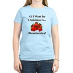 Christmas Strawberries Women's Light T-Shirt