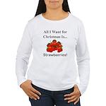 Christmas Strawberries Women's Long Sleeve T-Shirt