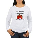Christmas Strawberries Women's Long Sleeve T-Shirt