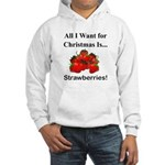 Christmas Strawberries Hooded Sweatshirt