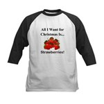Christmas Strawberries Kids Baseball Jersey
