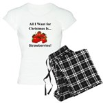 Christmas Strawberries Women's Light Pajamas