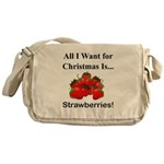 Christmas Strawberries Messenger Bag