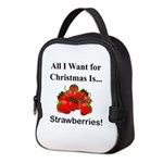 Christmas Strawberries Neoprene Lunch Bag