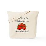 Christmas Strawberries Tote Bag