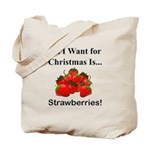 Christmas Strawberries Tote Bag