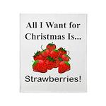 Christmas Strawberries Throw Blanket