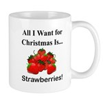 Christmas Strawberries Mug