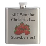 Christmas Strawberries Flask
