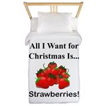 Christmas Strawberries Twin Duvet