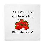 Christmas Strawberries Queen Duvet