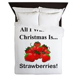 Christmas Strawberries Queen Duvet