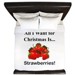 Christmas Strawberries King Duvet