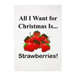 Christmas Strawberries 5'x7'Area Rug