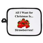 Christmas Strawberries Potholder