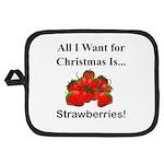 Christmas Strawberries Potholder