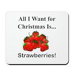 Christmas Strawberries Mousepad