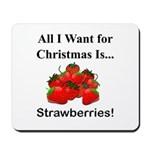 Christmas Strawberries Mousepad