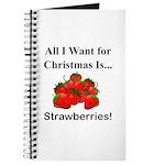 Christmas Strawberries Journal
