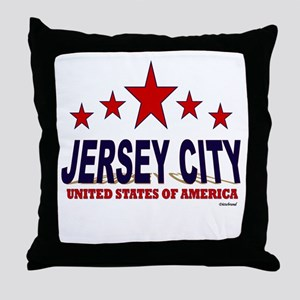Jersey City U.S.A. Throw Pillow