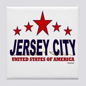 Jersey City U.S.A. Tile Coaster