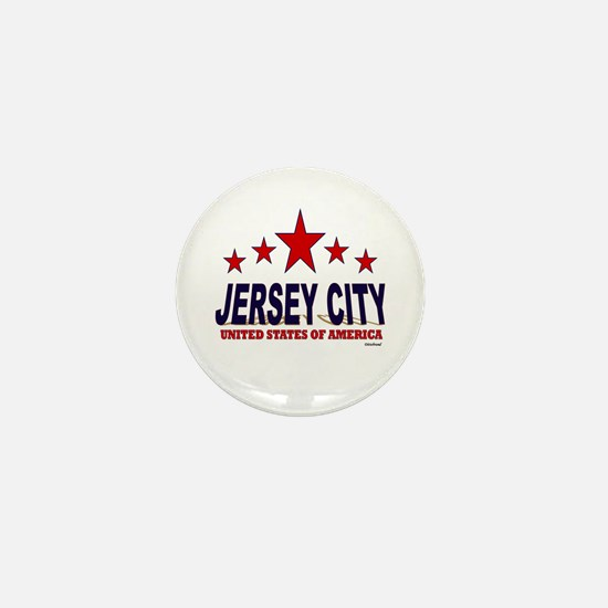 Jersey City U.S.A. Mini Button
