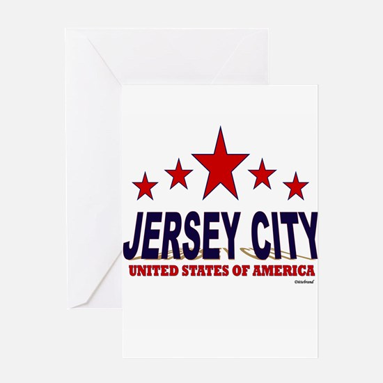 Jersey City U.S.A. Greeting Card