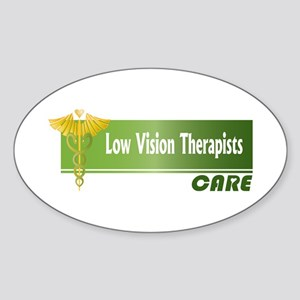 Low Vision Therapists Care Oval Sticker