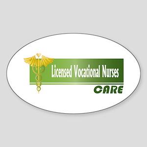Licensed Vocational Nurses Care Oval Sticker