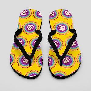 Seven Chakras pattern Flip Flops