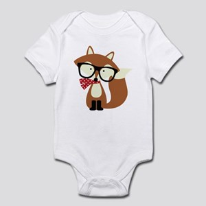 Holiday Hipster Brown Fox Body Suit