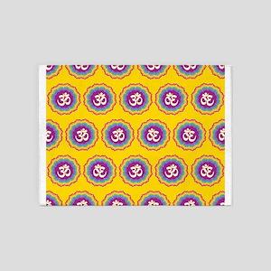 Seven Chakras pattern 5'x7'Area Rug