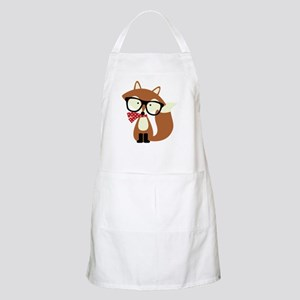 Holiday Hipster Brown Fox Apron
