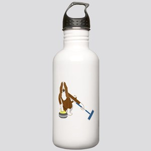 Basset Hound Curling Stainless Water Bottle 1.0L