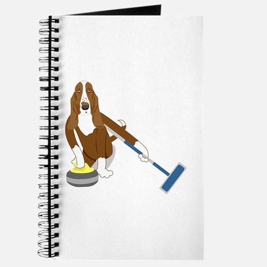 Basset Hound Curling Journal