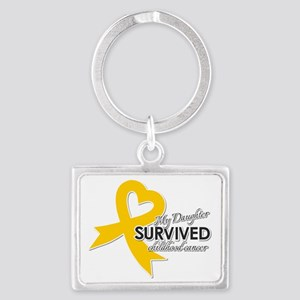 My Daughter Survived Childhood Cancer Keychains