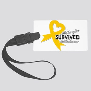 My Daughter Survived Childhood Large Luggage Tag