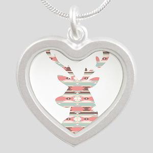 Tribal Pattern Deer Head Necklaces