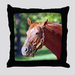 "SECRETARIAT - ""Big Red"" Throw Pillow"